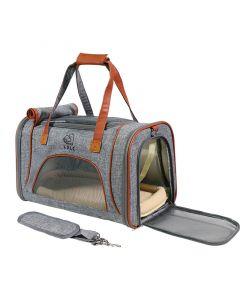 WTTX Tragbare, wasserdichte und zusammenfalte Haustierhandtasche mit Verstellbare gepolsterte Riemen für Hund und Katzen